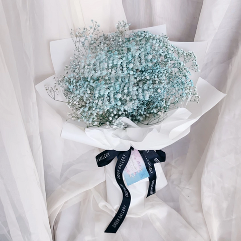 Blue Baby Breath Bouquet (Kuching Delivery Only)