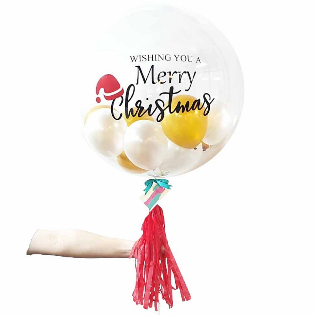 "HoHoHo 24"" Bubble Balloon (Filled with Normal Air)"
