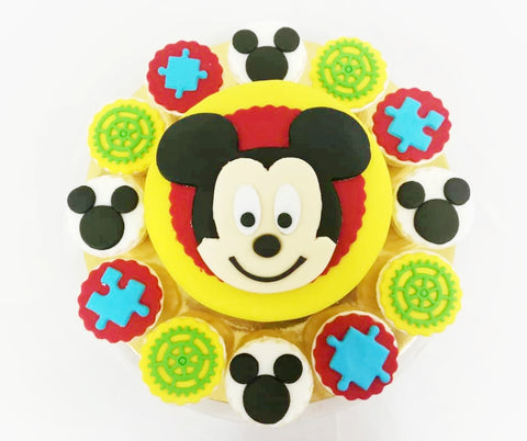 Mickey Mouse Theme Cake and Cupcakes