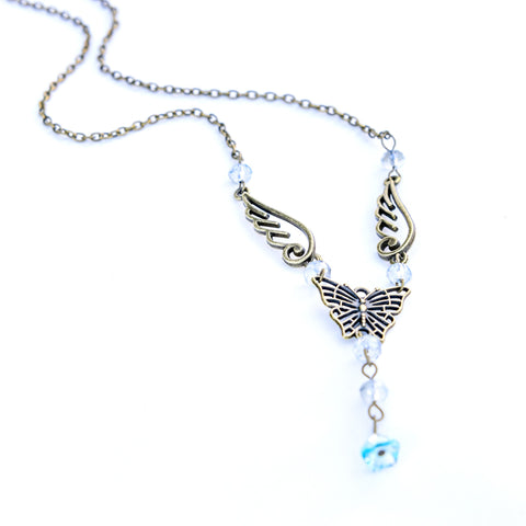 Butterfly Angel Vintage Necklace