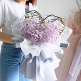 My Heart Heartshape Baby's Breath Bouquet
