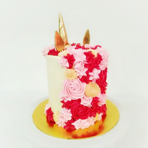 Red Unicorn Cake