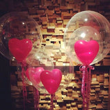 Mini Bubble Balloon with 1 heart shaped (One)
