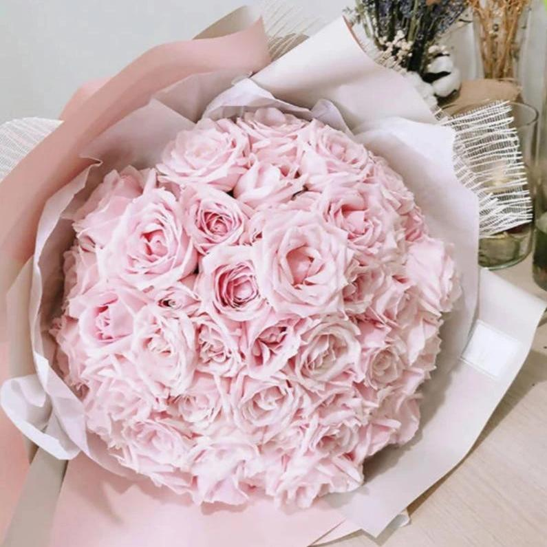 Valentine's Day 2020 Princess 36 Pink Roses bouquet
