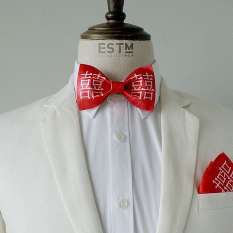 Xǐ  Bowtie & Pocket Square
