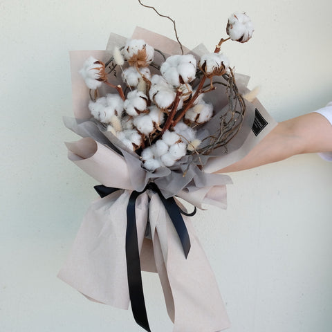 Nathan (Heartshape Cotton Flower Bouquet