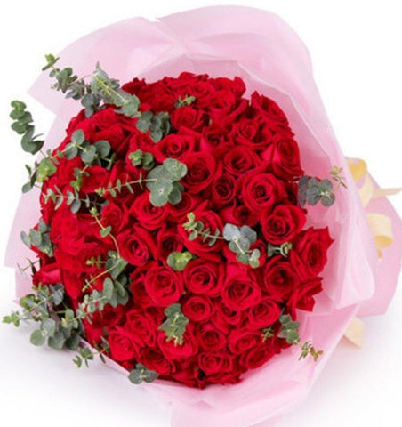 99 Stalks Rose Bouquet  (Valentine's Special)