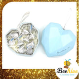 Beehive Chocolate Heart Shape Diamond Gift Tin Valentine Chocolate Set (2 set)