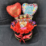 Bear Balloon Chocolate Soap Roses Box