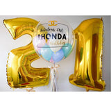 Personalised 'Congratulatory' Bubble Balloon with Foil Alphabet/Digit Set