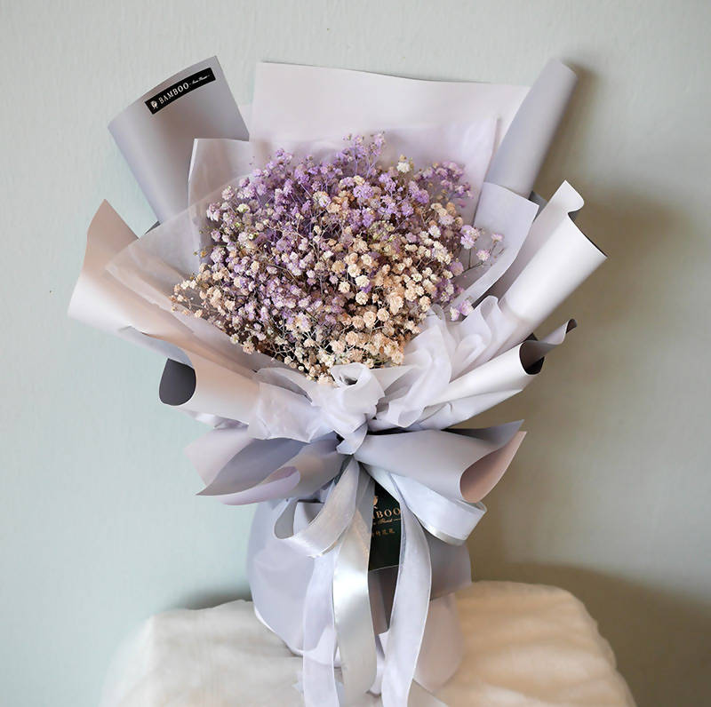 Valentine's Special - Lilac & Pink Baby Breath (Penang Delivery only)
