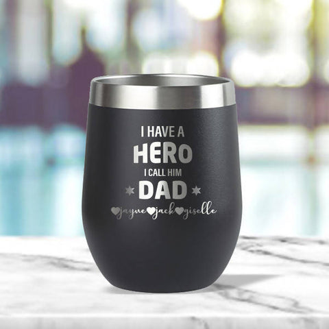 'Hero Dad' Insulated Tumbler (12oz)