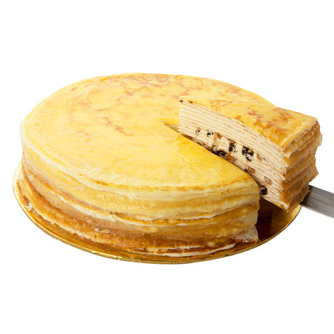 Peanut Butter Chocolate Chip Mille Crepe