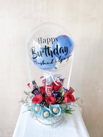 Flora Choc Hot Air Balloon (Melaka Delivery Only)