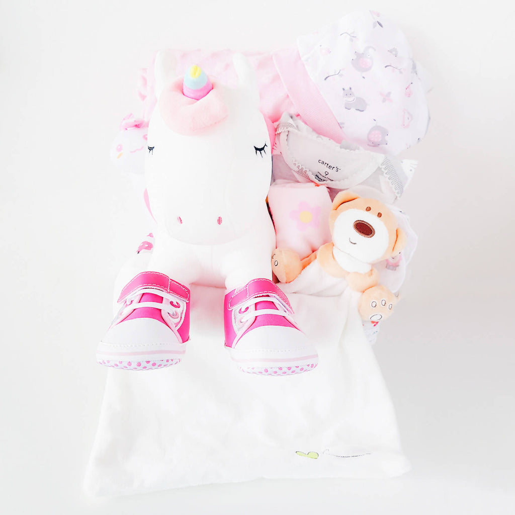 Unicorn Baby Gift Basket