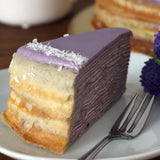 Purple Potato Sweet Crepe Cake