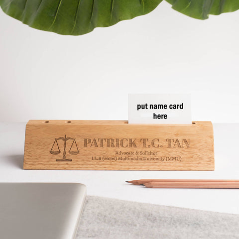 Personalised Desk Name Plate with Wordings(4-6 working days)