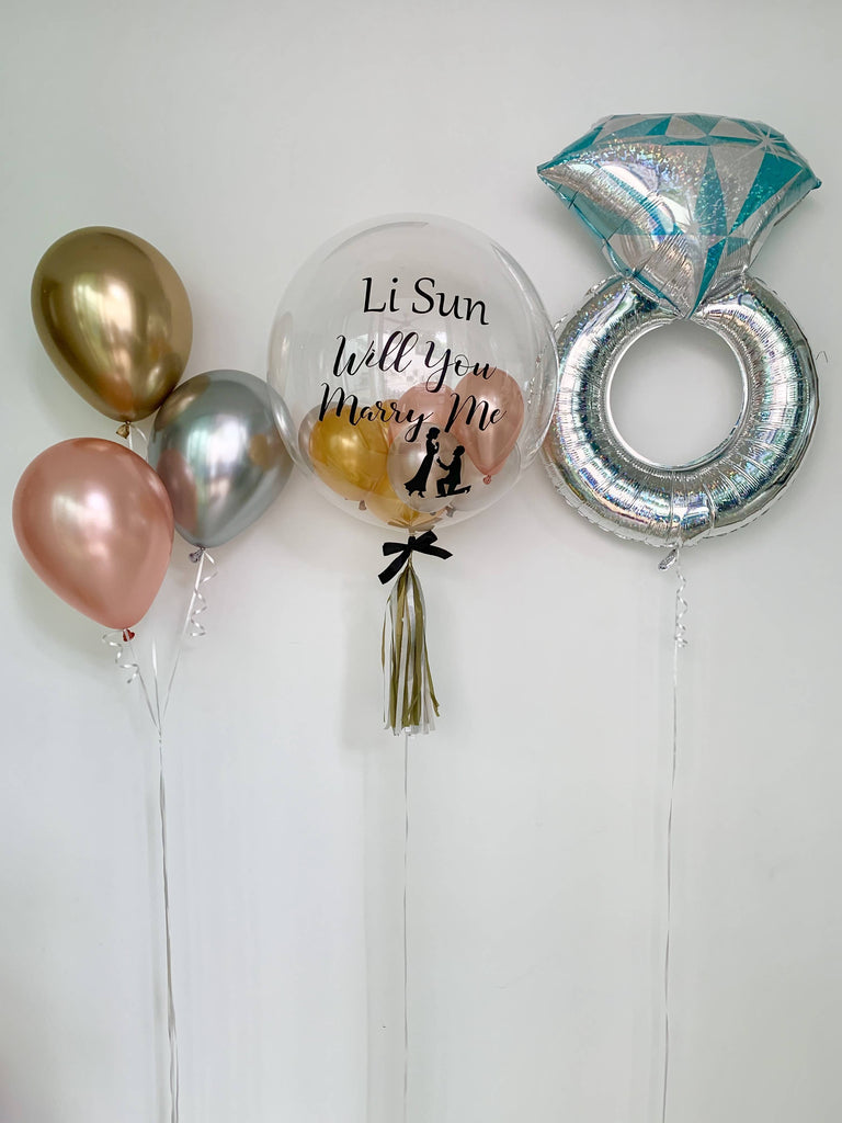 Proposal or Engagement Balloon Bouquet