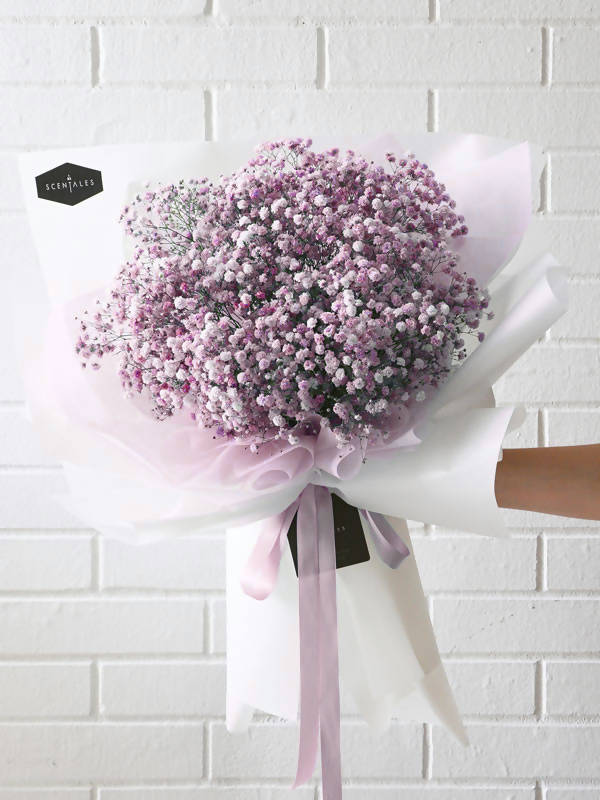 (Valentine's Day 2020) Pink Baby's Breath Flower Bouquet