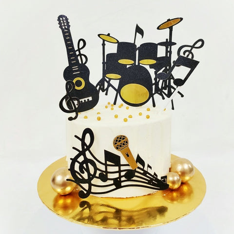 Rock N Roll Music Cake