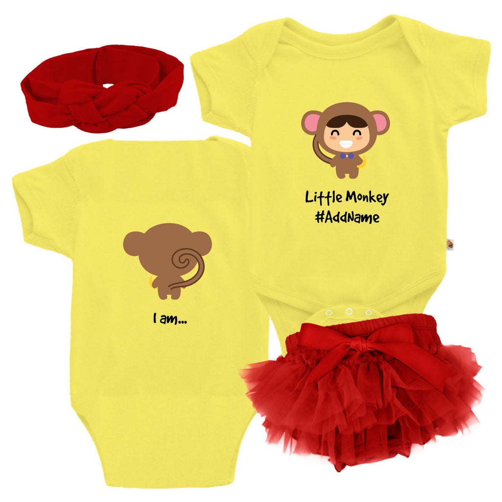 TeezBee Baby Monkey Costume - Girl Gift Sets