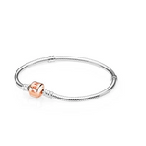 PANDORA Moments Silver Bracelet with Pandora Rose Clasp
