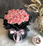 Signature Box with Pink Roses