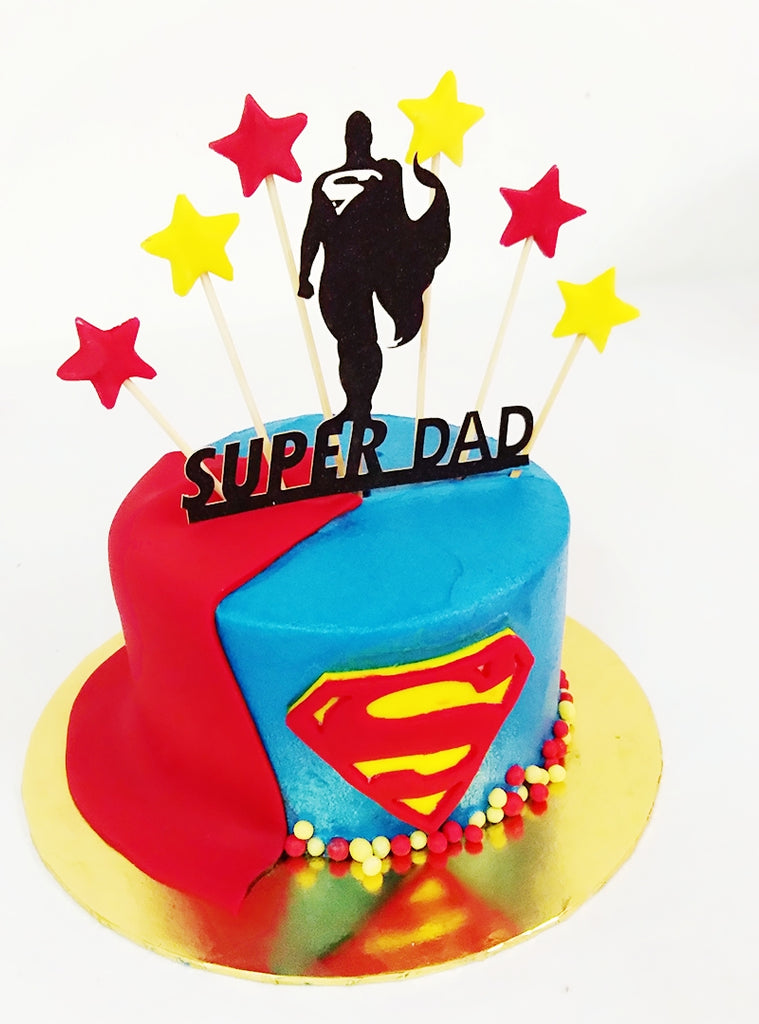 Superdad design Cake
