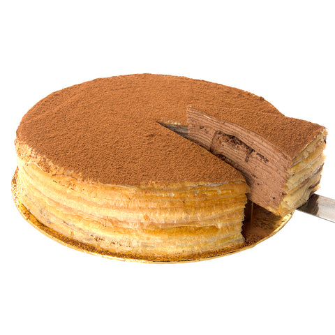 Swiss Chocolate Velvet Mille Crepe
