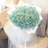 Giant Blue Baby Breath Bouquet