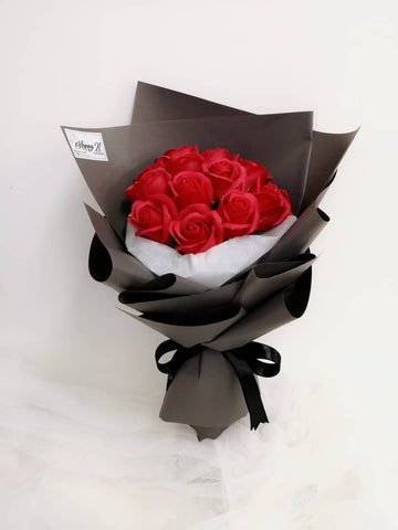 Red Soap Rose Bouquet