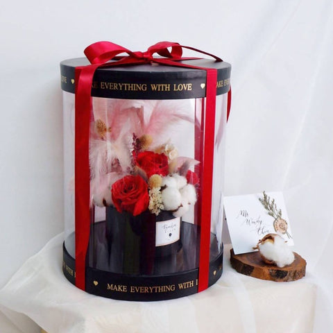 Eternity Rouge Premium Preserved Flower Box