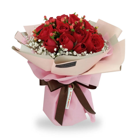 The One Red Roses Bouquet (Penang Island Delivery)