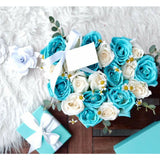 Tiffany Blue Roses Flower Box