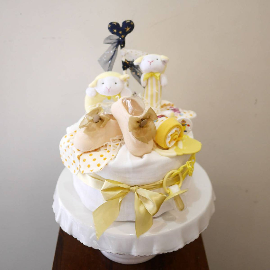 New Beginnings Nappy Cake - Yellow (Penang Delivery only)