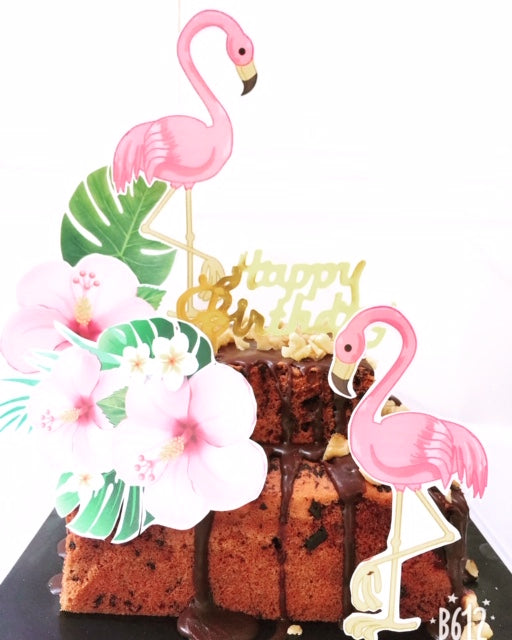 Tropical Love Birthday Theme Double Decker Mini Celebration Cake