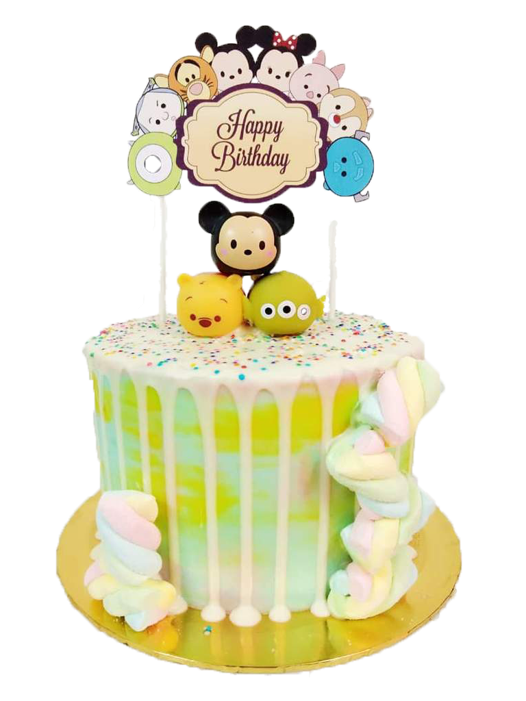 Tsum Tsum Topped with Marshmallow Cake