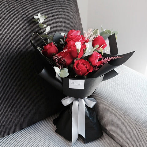 Marie Red Roses Bouquet