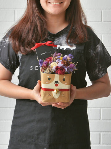 Coffee The Corgi Kraft Bag (Dried Flowers)