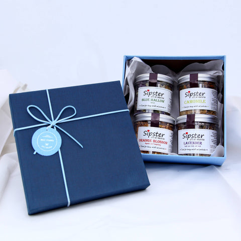 Sipster Flower Teas - Royal Blue Gift Set