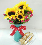 Bouquet of Decorative Flower & Chocolate (Mother's Day Special)tt