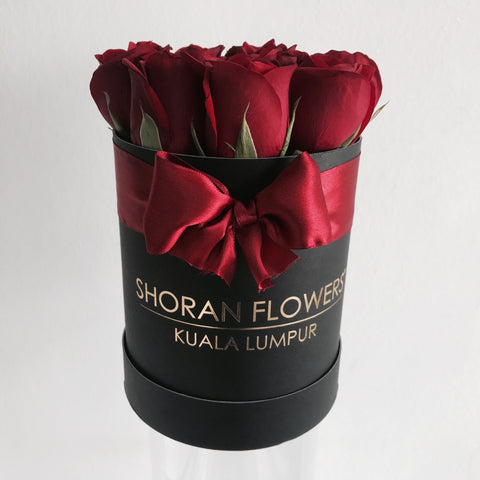 Mini Box of Roses - Black