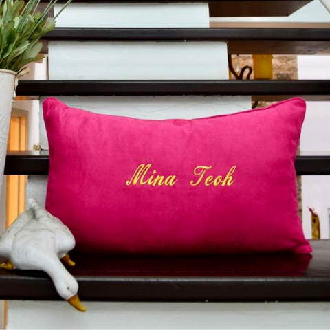 Personalised Pillow Pink