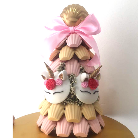 Pink and Peach Unicorn Madeleine Tower