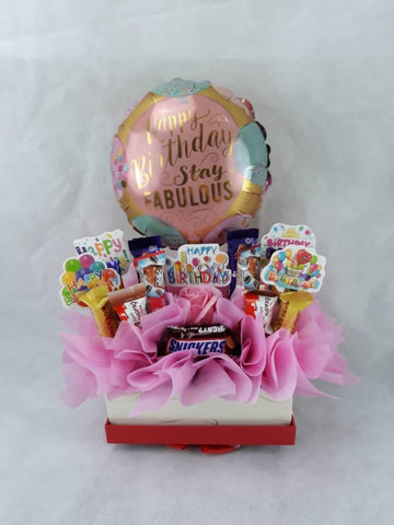 Birthday Chocolate Box with Balloon