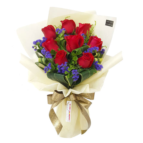 Victorian Red Roses Bouquet (Penang Island Delivery)