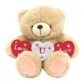Forever Friends Bear - 8'' I Heart You Banner