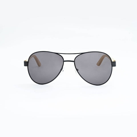 Personalised Bamboo Men Sunglasses with Name (Aviator)(4-6 working days)