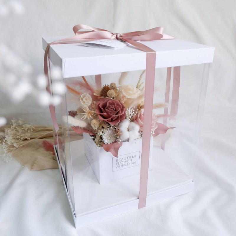 Romantic Blush Premium Preserved Flower Box