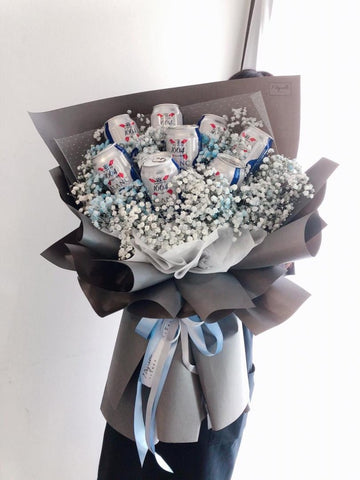 Beer Baby Breath Bouquet